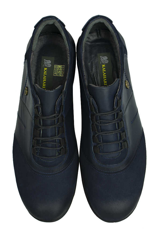 Kalahari 914405 424 Erkek Lacivert Deri Kışlık Ayakkabı