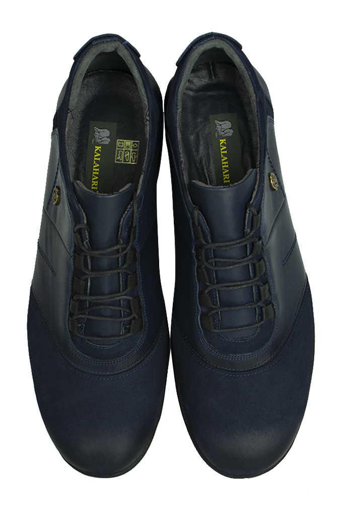 Fitbas 914405 424 Erkek Lacivert Deri Kışlık Büyük Numara Ayakkabı