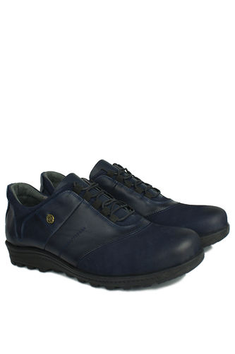 Kalahari - Kalahari 914405 424 Erkek Lacivert Deri Kışlık Büyük Numara Ayakkabı (1)