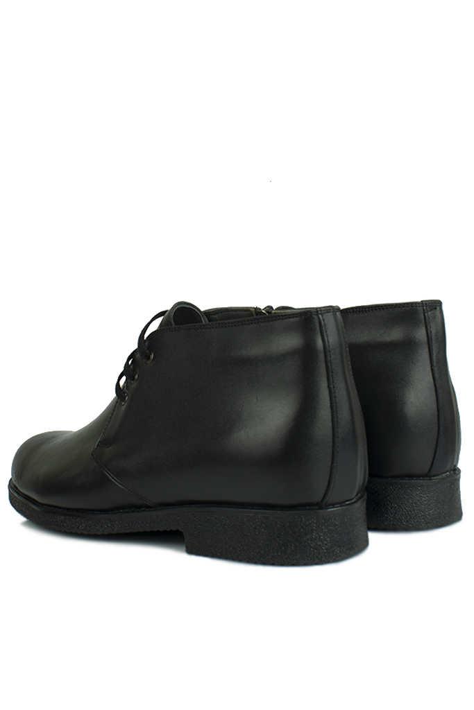 Kalahari 914560 014 Erkek Siyah Deri Kışlık Ayakkabı