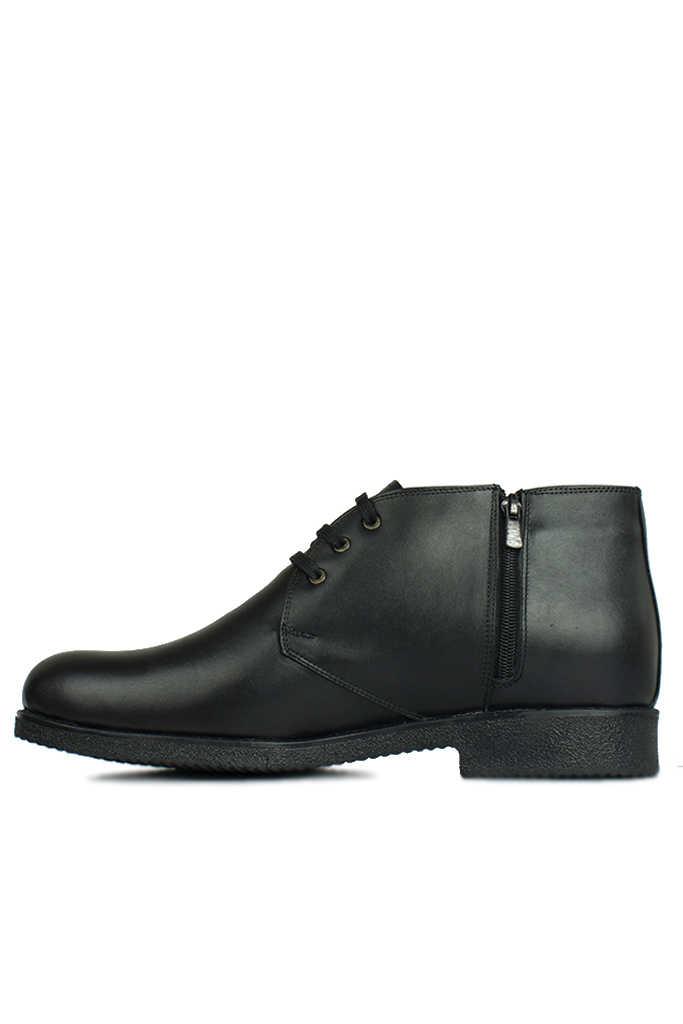 Fitbas 914560 014 Erkek Siyah Deri Kışlık Büyük Numara Ayakkabı