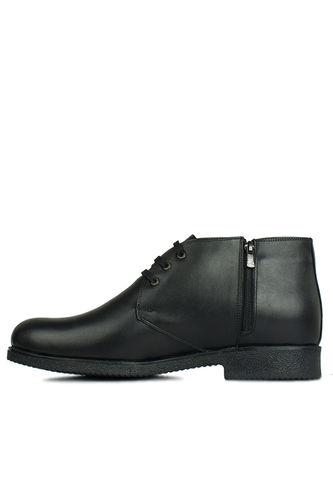 Kalahari - Kalahari 914560 014 Erkek Siyah Deri Kışlık Büyük Numara Ayakkabı (1)