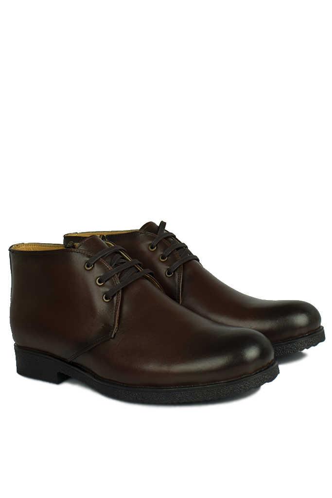 Kalahari 914560 032 Erkek Kahve Deri Kışlık Ayakkabı