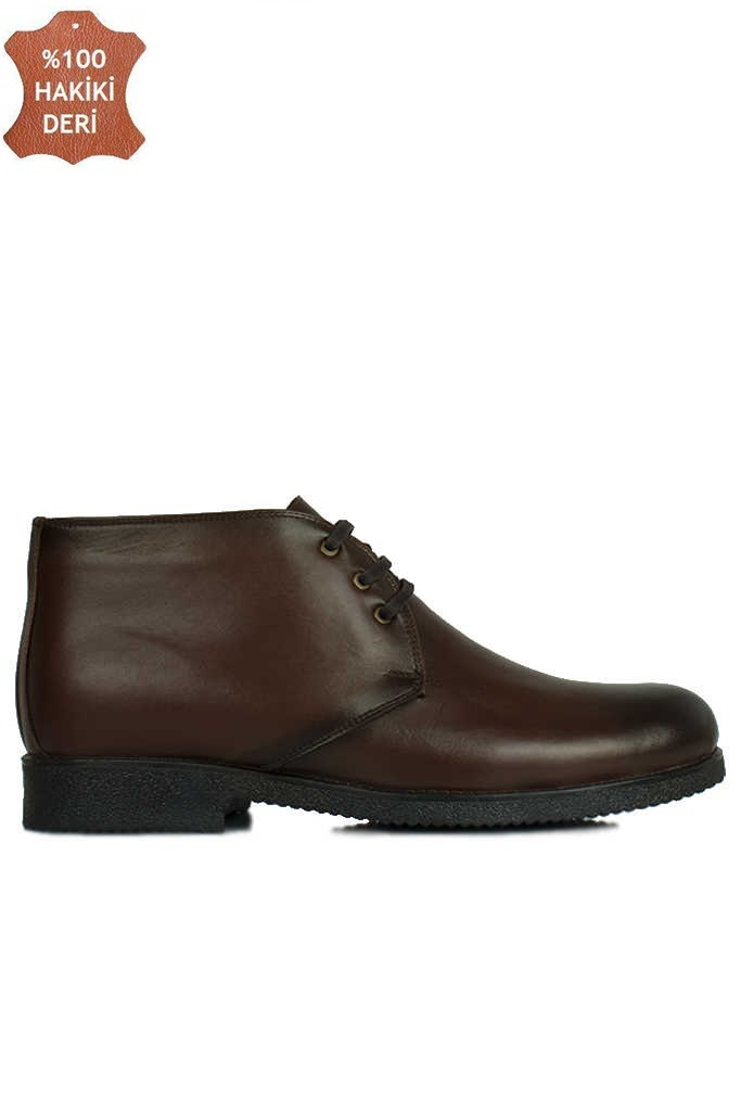 Fitbas 914560 032 Erkek Kahve Deri Kışlık Büyük Numara Ayakkabı