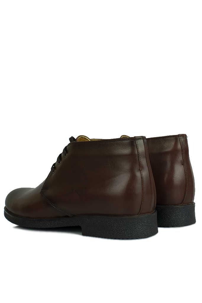 Kalahari 914560 032 Erkek Kahve Deri Kışlık Büyük Numara Ayakkabı
