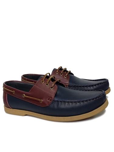 Fitbas - Fitbas 737001 419 Erkek Lacivert Bordo Deri Günlük Büyük Numara Ayakkabı (1)