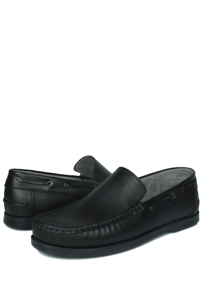 Fitbas 737000 014 Erkek Siyah Deri Günlük Büyük Numara Ayakkabı