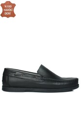 Fitbas 737000 014 Erkek Siyah Deri Günlük Büyük Numara Ayakkabı - Thumbnail