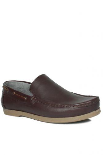 46 47 48 49 50 Büyük Numara Ayakkabı - Kalahari 737000 232 Erkek Kahve Deri Günlük Ayakkabı (1)