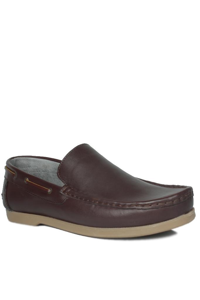 Fitbas 737000 232 Erkek Kahve Deri Günlük Büyük Numara Ayakkabı