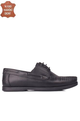Fitbas 737001 014 Erkek Siyah Deri Günlük Büyük Numara Ayakkabı