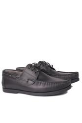 Fitbas 737001 014 Erkek Siyah Deri Günlük Büyük Numara Ayakkabı - Thumbnail