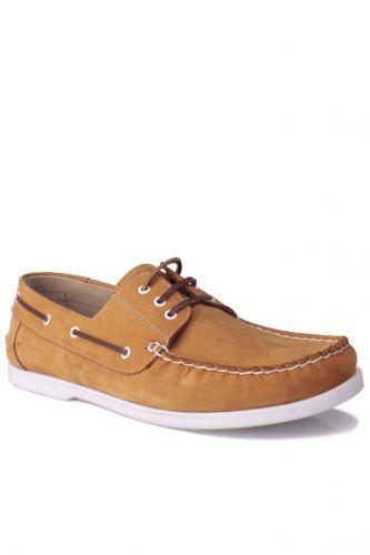 46 47 48 49 50 Büyük Numara Ayakkabı - Kalahari 737001 122 Erkek Sarı Nubuk Günlük Ayakkabı (1)