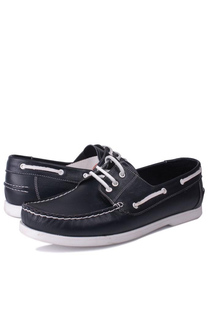 Kalahari 737001 420 Erkek Lacivert Deri Günlük Ayakkabı