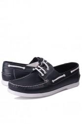 Fitbas 737001 420 Erkek Lacivert Deri Günlük Büyük Numara Ayakkabı - Thumbnail