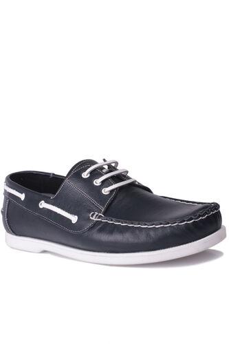 Fitbas - Fitbas 737001 420 Erkek Lacivert Deri Günlük Büyük Numara Ayakkabı (1)