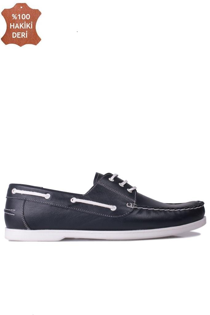 Fitbas 737001 420 Erkek Lacivert Deri Günlük Büyük Numara Ayakkabı