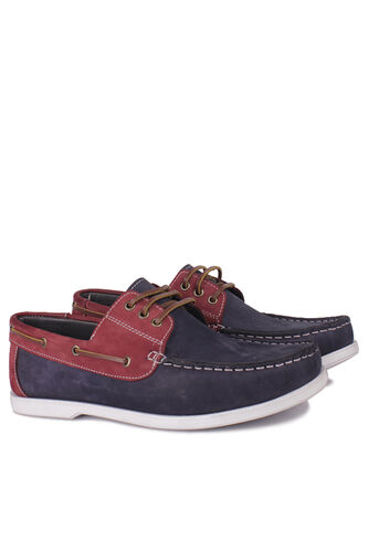 Fitbas - Kalahari 737001 465 Men Navy Blue Claret Red Nubuck Casual Shoes (1)