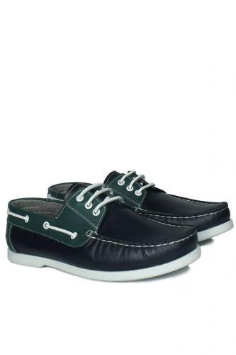 46 47 48 49 50 Büyük Numara Ayakkabı - Kalahari 737001 475 Erkek Lacivert Yeşil Günlük Ayakkabı (1)