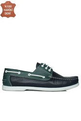 Fitbas 737001 475 Erkek Lacivert Yeşil Günlük Büyük Numara Ayakkabı - Thumbnail