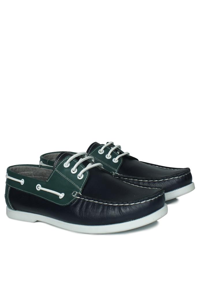 Kalahari 737001 475 Erkek Lacivert Yeşil Günlük Ayakkabı