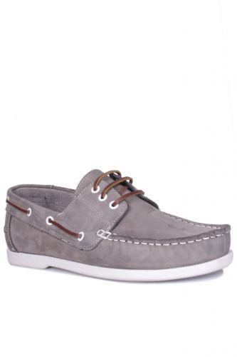 46 47 48 49 50 Büyük Numara Ayakkabı - Kalahari 737001 515 Erkek Gri Nubuk Günlük Ayakkabı (1)