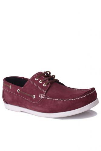- Kalahari 737001 662 Erkek Bordo Nubuk Günlük Ayakkabı (1)