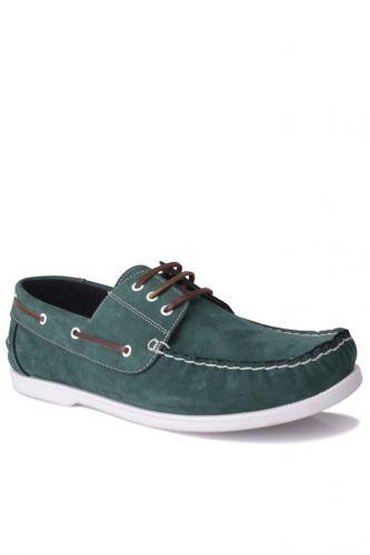 46 47 48 49 50 Büyük Numara Ayakkabı - Kalahari 737001 772 Erkek Yeşil Nubuk Günlük Ayakkabı (1)