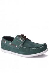 Fitbas 737001 772 Erkek Yeşil Nubuk Günlük Büyük Numara Ayakkabı - Thumbnail