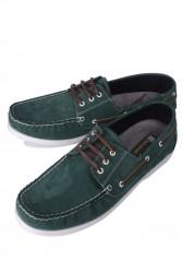 Kalahari 737001 772 Erkek Yeşil Nubuk Günlük Büyük Numara Ayakkabı - Thumbnail
