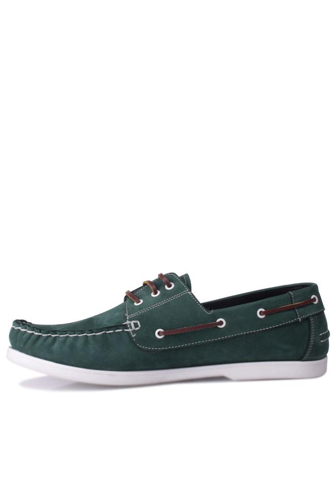 Fitbas 737001 772 Erkek Yeşil Nubuk Günlük Büyük Numara Ayakkabı