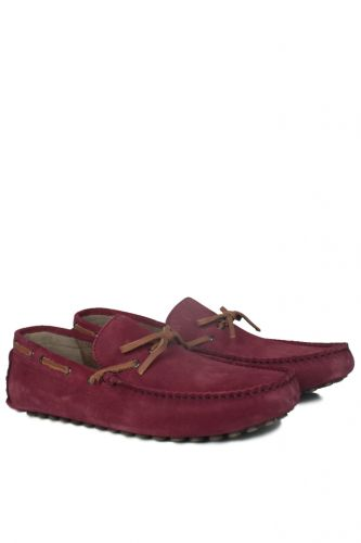 - Kalahari 850223 627 Erkek Bordo Süet Loafer (1)