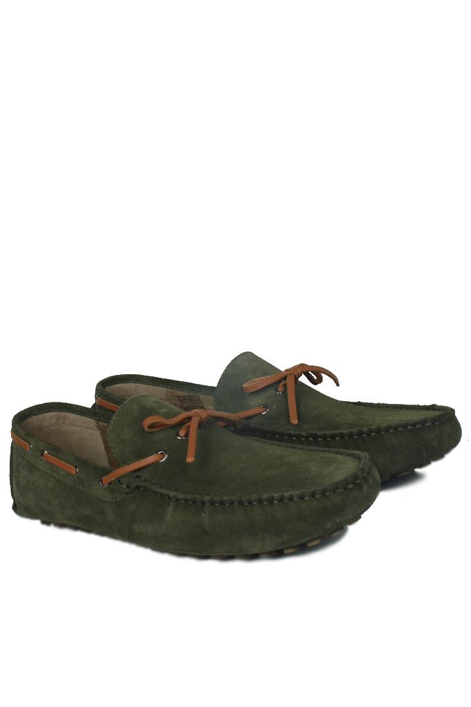 Kalahari 850223 772 Erkek Yeşil Süet Loafer