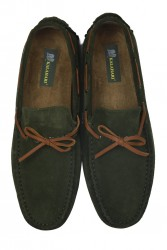 Kalahari 850223 772 Erkek Yeşil Süet Loafer - Thumbnail