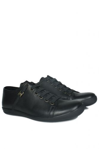 - Kalahari 850660 013 Erkek Siyah Deri Loafer (1)
