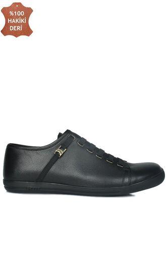Fitbas 850660 013 Erkek Siyah Deri Büyük Numara Loafer