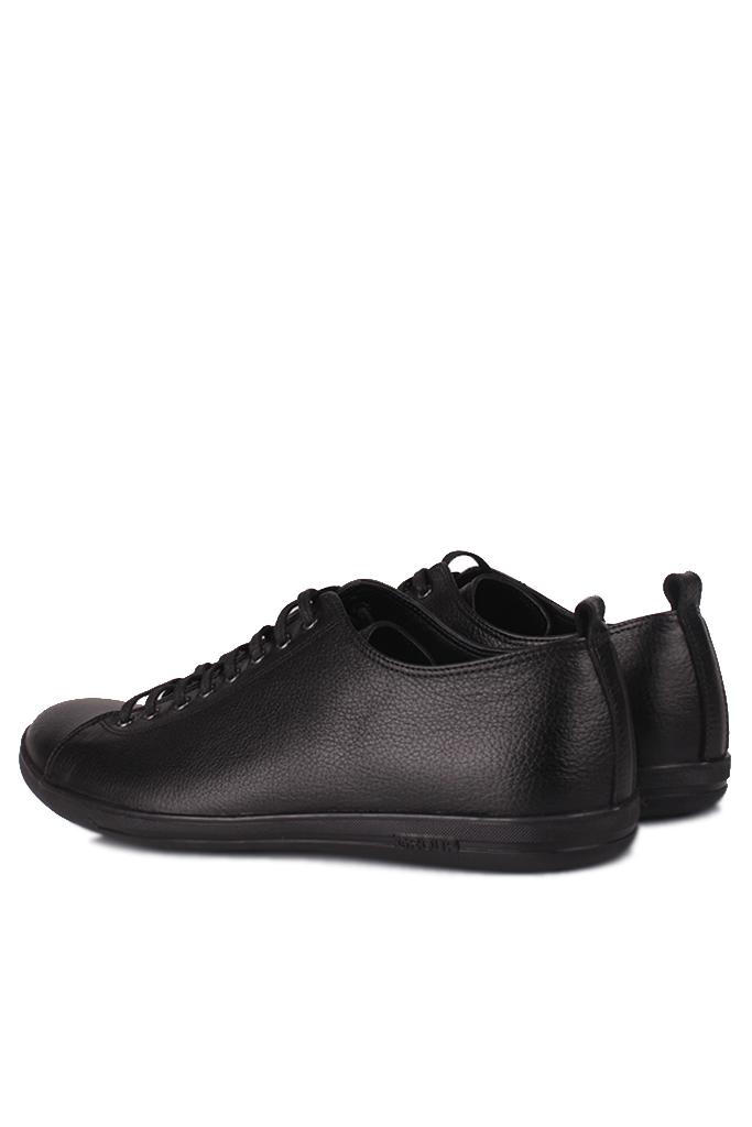 Fitbas 850661 013 Erkek Siyah Deri Büyük Numara Ayakkabı