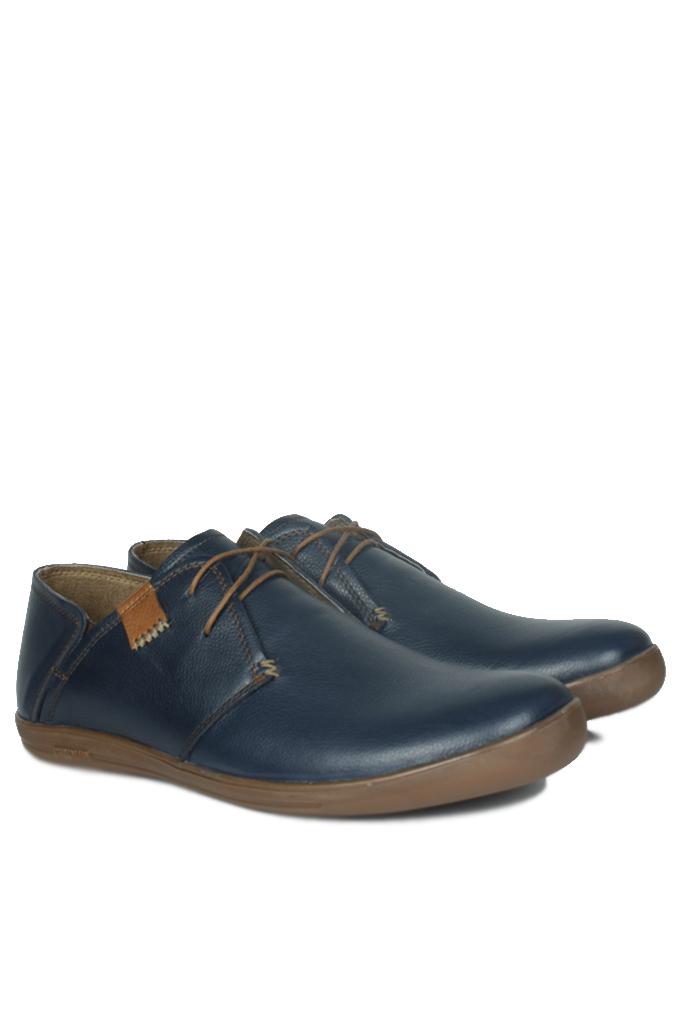 Fitbas 850984 420 Erkek Lacivert Deri Büyük Numara Ayakkabı