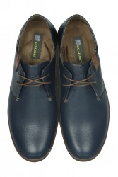 Fitbas 850984 420 Erkek Lacivert Deri Büyük Numara Ayakkabı - Thumbnail