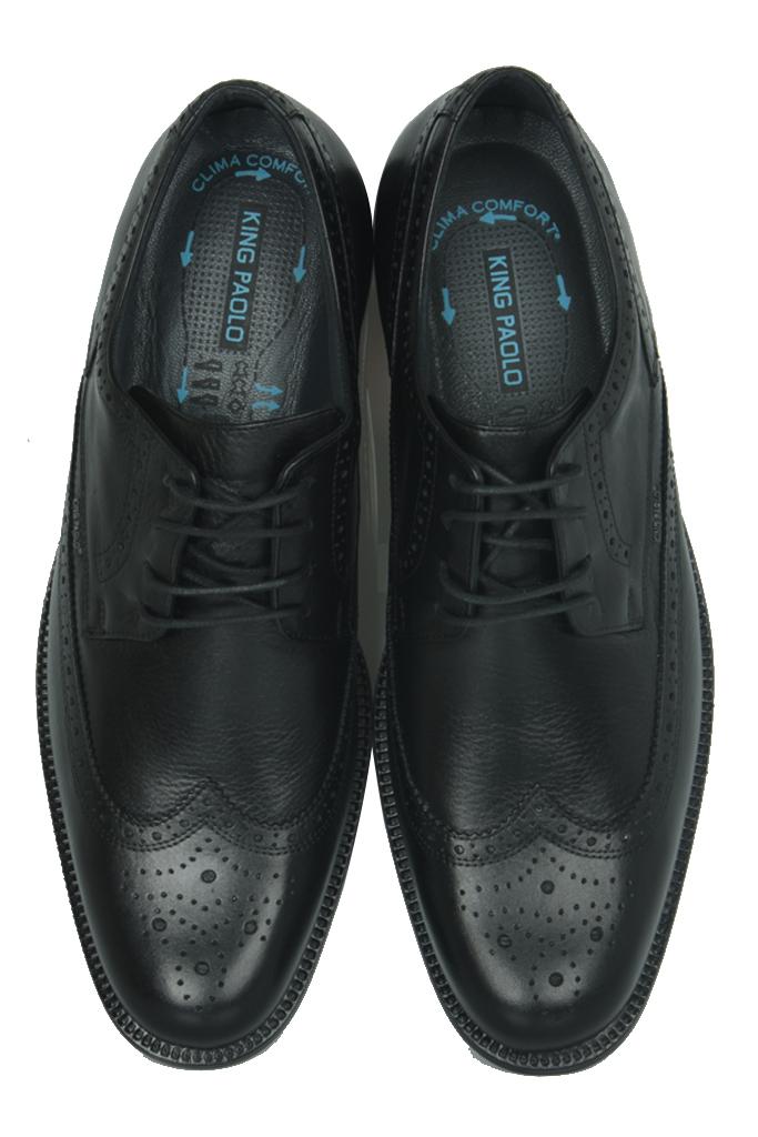 King Paolo 1271 0013 Erkek Siyah Klasik Büyük Numara Ayakkabı
