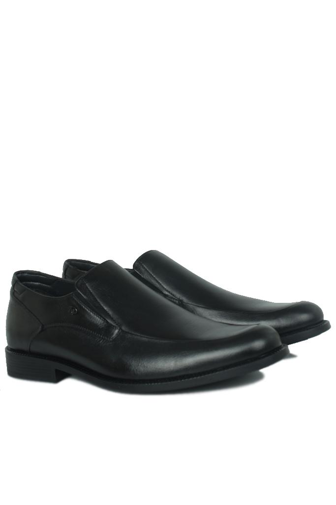 King Paolo 1287 0013 Erkek Siyah Klasik Büyük Numara Ayakkabı