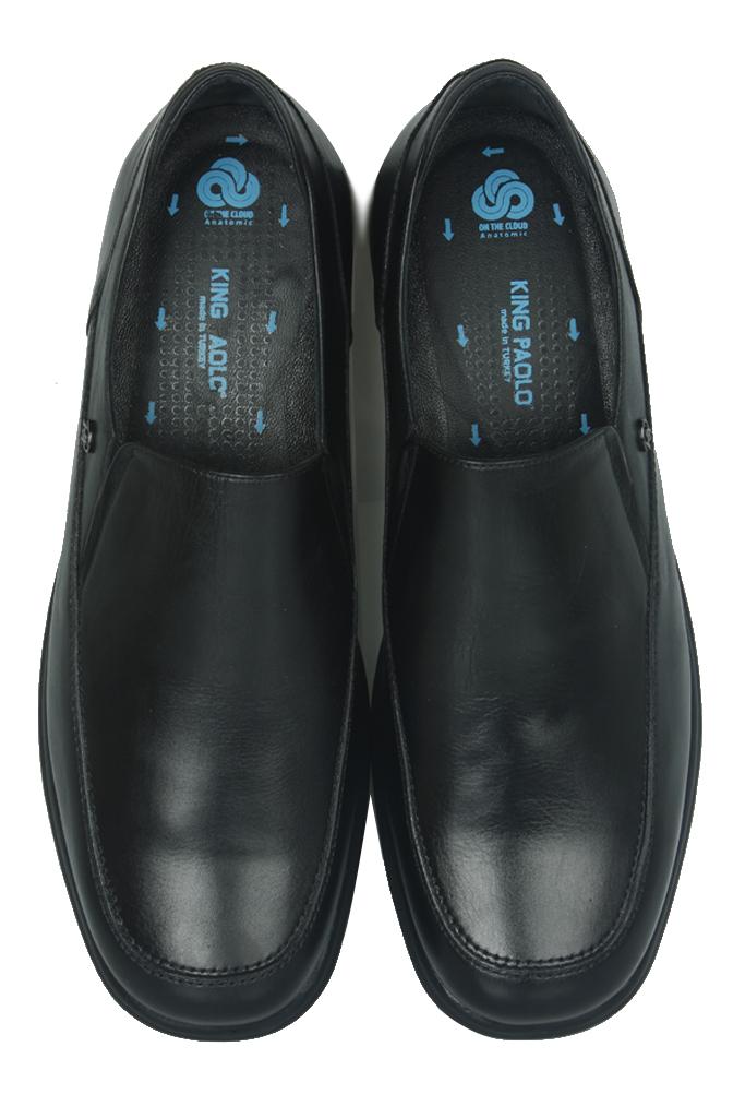 King Paolo 300 0013 Erkek Siyah Klasik Büyük Numara Ayakkabı