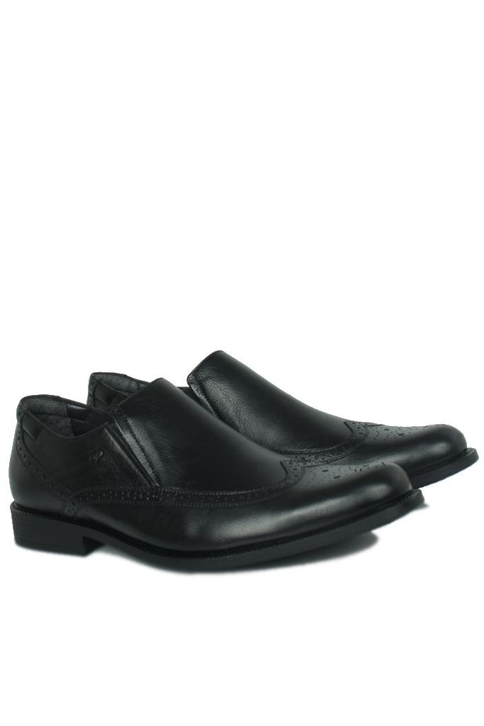 King Paolo 6147 0014 Erkek Siyah Klasik Büyük Numara Ayakkabı
