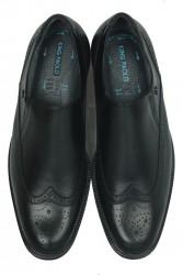 King Paolo 6147 0014 Erkek Siyah Klasik Büyük Numara Ayakkabı - Thumbnail