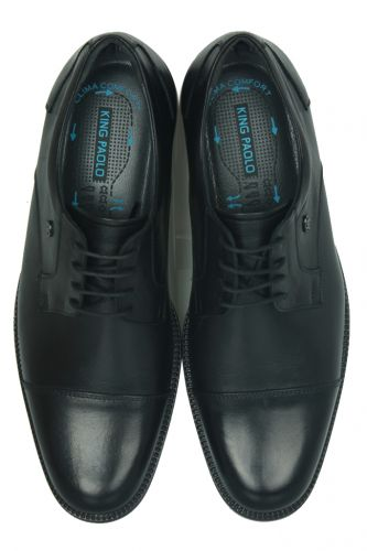 King Paolo - King Paolo 7180 0013 Erkek Siyah Klasik Büyük Numara Ayakkabı (1)