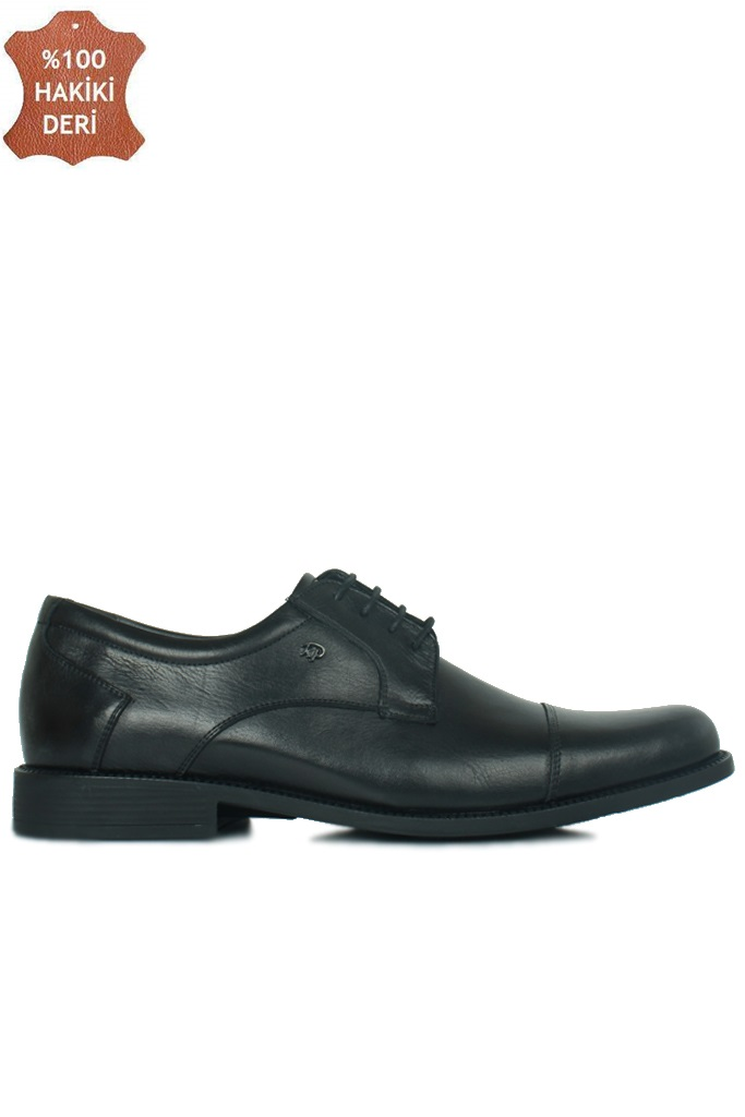 King Paolo 7180 0013 Erkek Siyah Klasik Büyük Numara Ayakkabı