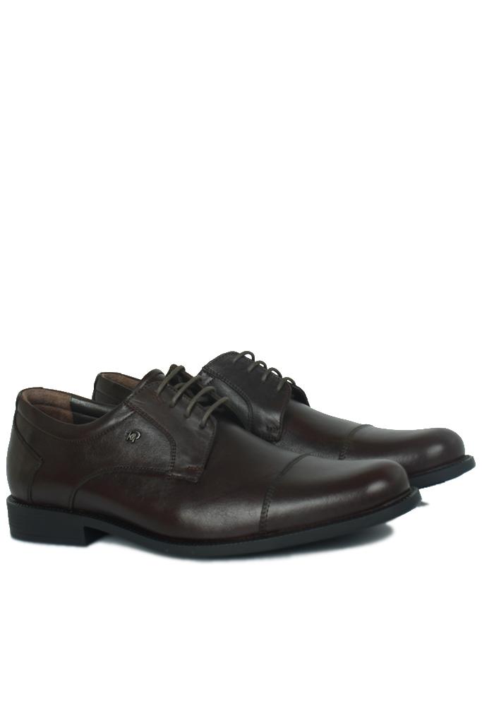 King Paolo 7180 0232 Erkek Kahve Klasik Büyük Numara Ayakkabı