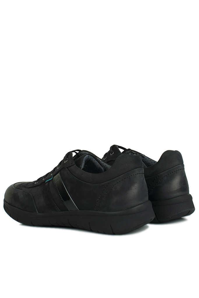King Paolo 8221 008 Erkek Siyah Günlük Büyük Numara Ayakkabı