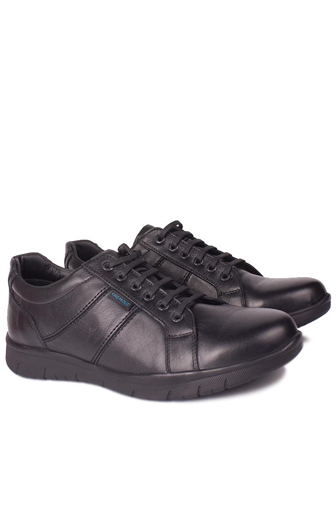 King Paolo 8230 013 Erkek Siyah Günlük Büyük Numara Ayakkabı