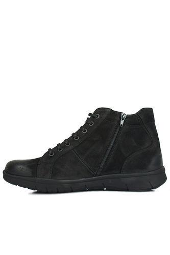 King Paolo - King Paolo 8248 008 Men Black Nubuck Boot (1)